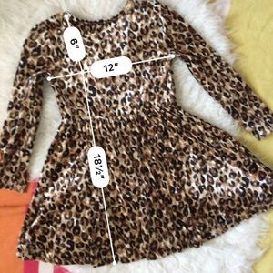Children's Place Dresses - Animal Print Velour Dress 7-8